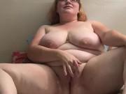 Busty Redhead Masturbates to Moaning Orgasm