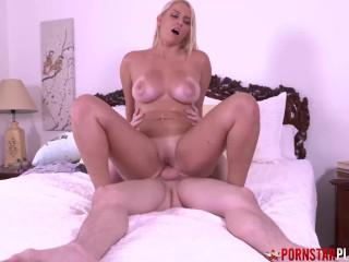 PORNSTARPLATINUM Vanessa Cage Fucked Hard Before Cum On Tits
