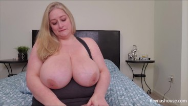 Big Tits Are Better - Reyna Mae - BBW All Natural POV Big Boobs JOI Topless Blonde MILF Titties
