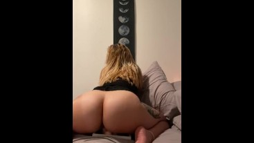 Horny girl and her dildo