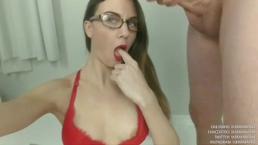 Cum On Glasses Facial 8- Colored Stripes