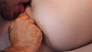 Wake me up with sensual pussy licking and make me cum! Close-up clit licking - Ruda Cat