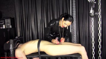 Massive cumshot ruin for the small-dicked impotent slave
