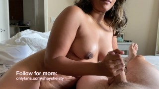Breathtaking Desi Goddess Wakes Boyfriend Up Jerking Him Off
