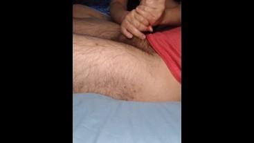 AMAZING HANDJOB AND FOOTJOB WITH MASSIVE CUMSHOT