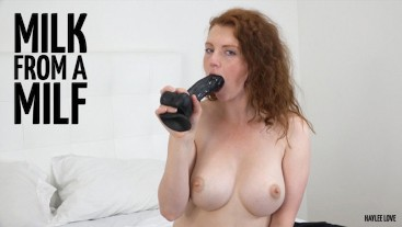 Striptease and Milk from a MILF