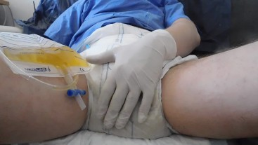 messing diaper after enema, emptying
