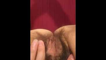 Trying to Fart FOREVER! Farting Whining Laughing Pouting Funny Sounding Hairy Pink Pussy Has Ass Gas