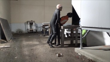 latex man finds defeated surfer abandoned at industrial site