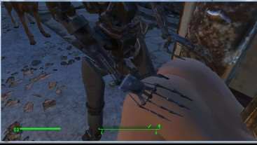 Iron sex toy satisfies the girl well | Porno Game 3d, Fallout 4 Sex Mod