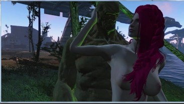 Green giant bent over girl for anal sex | 3d monster porno, ADULT mods