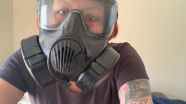 Jerk to my Gas Mask Gasmask joi jerk off instruction