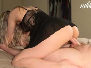 Please cum inside of me Daddy!! Makeup Sex!! - NikkieRae