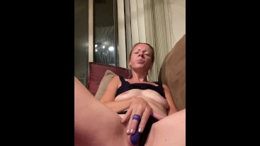 No Makeup Milf Masturbates On Period With Tampon In