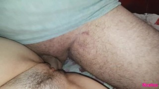 I record my friend making a creampie when I pee. Nice4ss