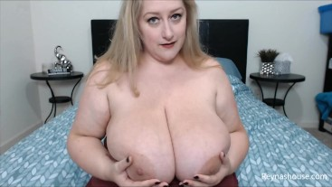 Coerced Bi - Reyna Mae - BBW Femdom POV All Natural Big Tits Blonde MILF Converted Cock Sucking