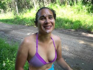Public Agent - Road Side POV Deepthroat by Amateur Latina Teen Model Leads to a Facial Cum Walk 4K