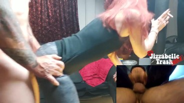 Redhead SMOKING MILF - Ripped Jeans Fuck + Pussy Licking Clean Up