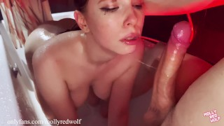 Creampie in pussy Fucked me in the shower without permission – 4K