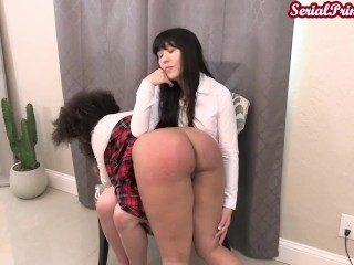Old young/spanked dress breaking code scolding