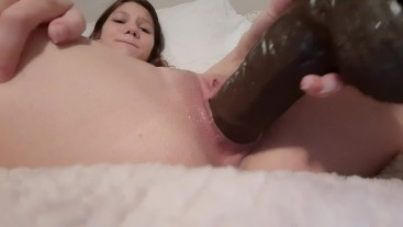 Cumming on the biggest 10 inches of BBC my pussy has ever had