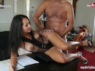 MyDirtyHobby – Busty secretary in stockings fucks her boss at the office