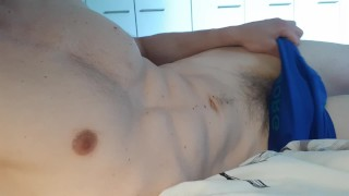 Solo Male Masturbation - Fit guy gets aroused just for YOU