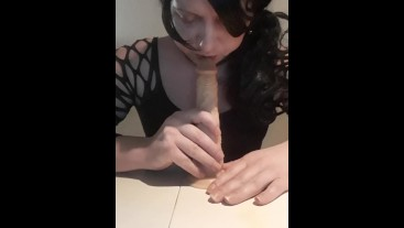 suck on dildo