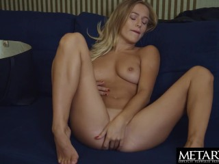 Blonde with big natural tits wants you to watch her masturbating