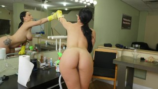BANGBROS - Latin Babe Kimmy Kush Taking Dick From Her Client On The First Day Of Work