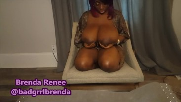 Busty Ebony Lesbian Breast Play (Preview)
