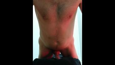 Pillow humping solo male masturbationation