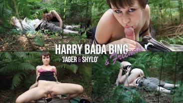Jager & Shylo - Cute Teen Fucks Bareback Outdoors In The Woods - Harry Bada Bing & Friends