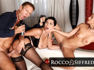 RoccoSiffredi Hardcore Threesome POV Casting With Horny Veronica Leal