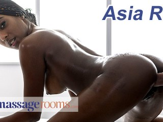 Massage Rooms Gorgeous British ebony babe Asia Rae oil soaked romantic sex