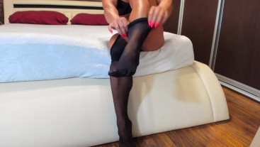 would you like to put on my pantyhose?...
