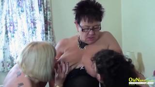 OldNannY British Mature Threesome Hardcore Sex