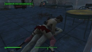 brothel with glass windows the work of prostitutes in fallout 4 porno game, lesbian strapon