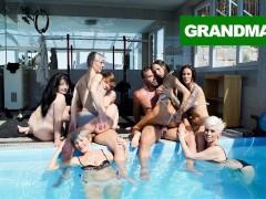 Fucked Up Granny Pool Orgy