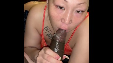 Asian milf who loves sucking and fucking with daddy