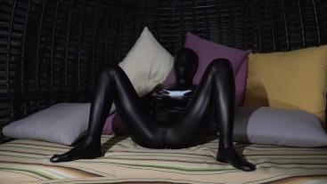 Black Zentai Puppet