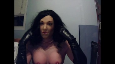 May and Reni Pt4! Taking off my tight leather black gloves !
