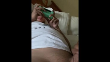 Legs wide open,toes curling ,cum spewing