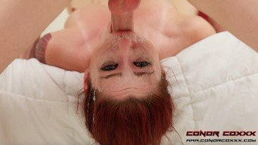 Sexy RedHead Slut Has Spit Filled Throat Fucked By Giant Cock - Violet Monroe