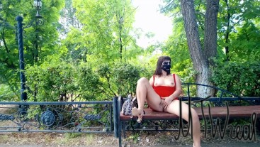 risky flashing in public park