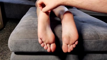 SOFT TICKLISH FEET