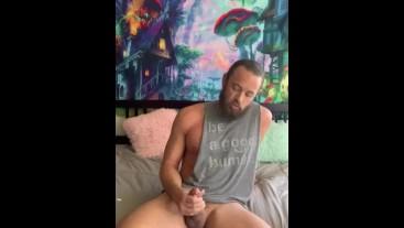 Big cock stroke and cum Solo 20 mins