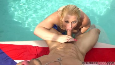 White MILF on Vacation Takes On Huge Latin Dick