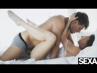 Watch her big tits bounce as she rides her man's cock to orgasm