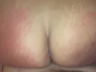 Big Booty Reverse Cowgirl Squirting While On Period
